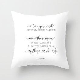 Most Beautiful Darling Throw Pillow