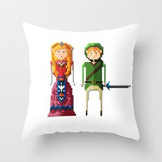 pixels in love Throw Pillow
