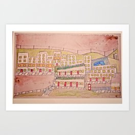 Craigshill. Art Print