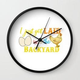 Funny Hen Eggs Chicken Gift Chicken Print Wall Clock