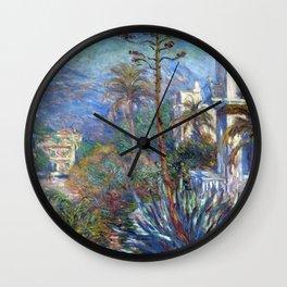 Claude Monet Villas at Bordighera Wall Clock