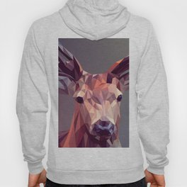 Colorful Polygons Abstract Deer Hoody