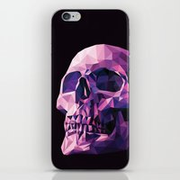 skull iPhone & iPod Skins featuring Skull by Roland Banrevi