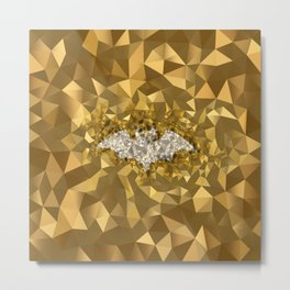 POLYNOID Bat / Gold Edition Metal Print
