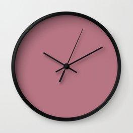 Portrait of a Peony II ~ Rouge Wall Clock