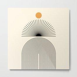 Abstraction_SUNLIGHT_SUNRISE_LINE_POP_ART_0993A Metal Print