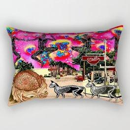 Cat Ghost Rectangular Pillow