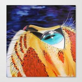 Curiosity, Orange Space Cat, Cool Cat, Orange Cat Print Canvas Print