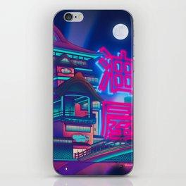 Neon Bath House iPhone Skin