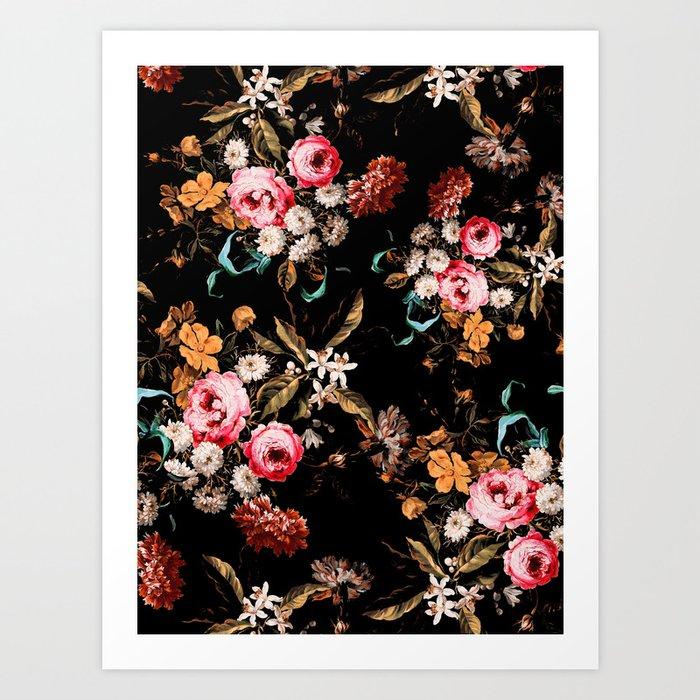 Midnight Garden IV Art Print
