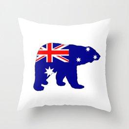 Australian Flag - Polar Bear Throw Pillow