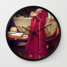 John William Waterhouse The Crystal Ball Wall Clock