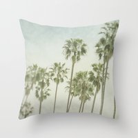 palm trees Throw Pillows featuring Palm Trees by Pure Nature Photos