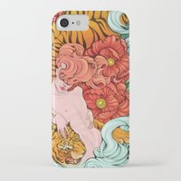 fierce iPhone & iPod Cases featuring Fierce by Kate Mana