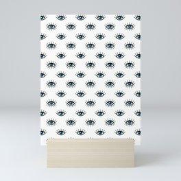 Evil eyes pattern Mini Art Print