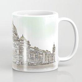 Flinders Street Railway Station under Cloudy Sky Coffee Mug