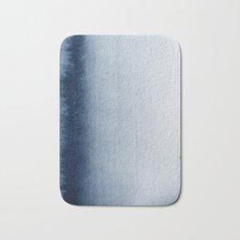 Indigo Vertical Blur Abstract Bath Mat