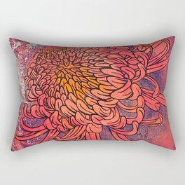 Chrysanthemum (Silk screen & fine liner) Rectangular Pillow