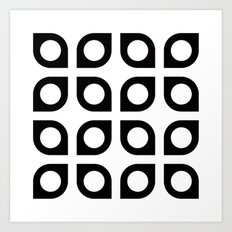 Curved circle pattern Art Print