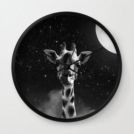 Tall Giraffe Wall Clock
