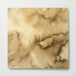 Watercolor texture - copper brown Metal Print