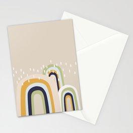Abstract Stormy Rainbow I Stationery Cards