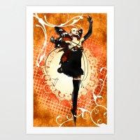 Monarch Butterfly Fairy Art Print
