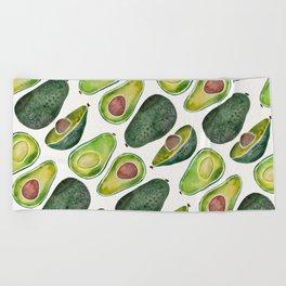 Avocado Slices Beach Towel