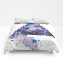 galaxy triangle Comforters
