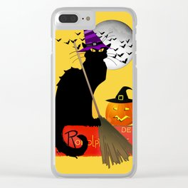 Le Chat Noir - Halloween Witch Clear iPhone Case