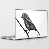 ornate Laptop & iPad Skins featuring Ornate Bird by ZantosDesign