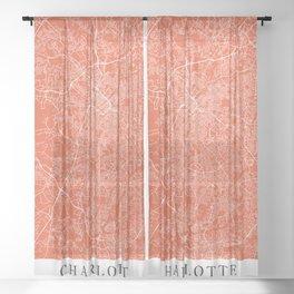 Charlotte - Us Tan City Map E55934 Sheer Curtain