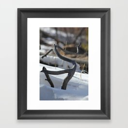 New Mexico Snow  Framed Art Print