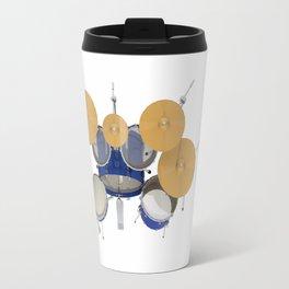 Blue Drum Kit Travel Mug
