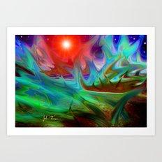 Planet of the plants Art Print