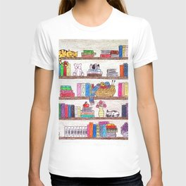 Colored booshelf! T-shirt