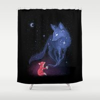 justin timberlake Shower Curtains featuring Celestial by Freeminds