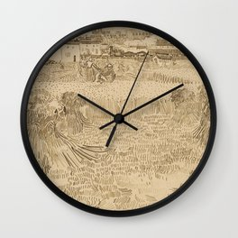 Arles: View from the Wheatfields Wall Clock