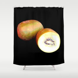 Kiwi gold Shower Curtain