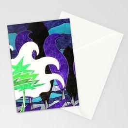Le sapin et la foret Stationery Cards