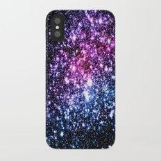 Cool Tone Galaxy Stars iPhone X Slim Case