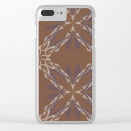 Pattern brown decoration Clear iPhone Case