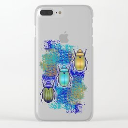 Scarabs Quilt Clear iPhone Case