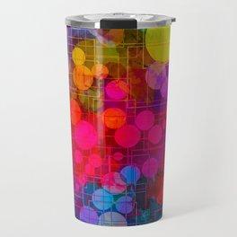 Rainbow Bubbles Abstract Design Travel Mug