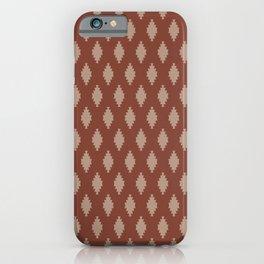 TAOS TILE MARSALA iPhone Case