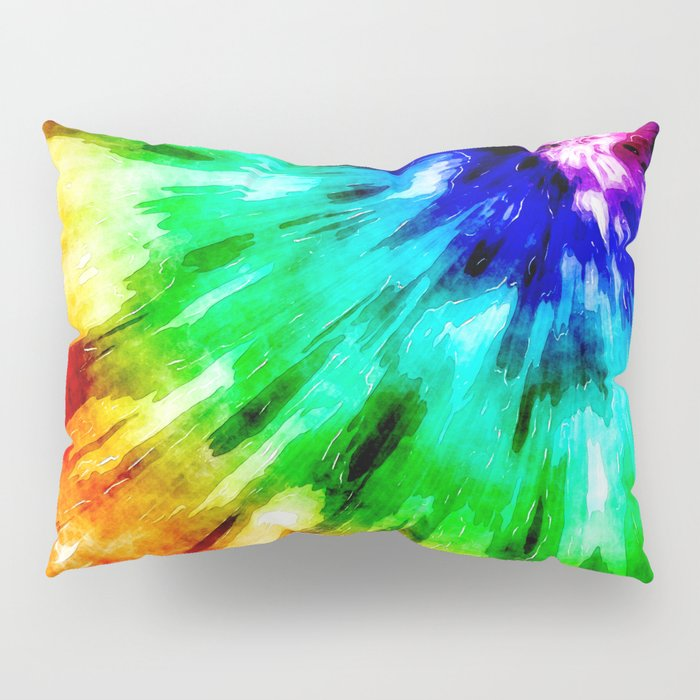 Tie Dye Meets Watercolor Pillow Sham