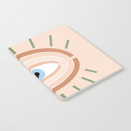 Retro evil eye - neutrals Notebook