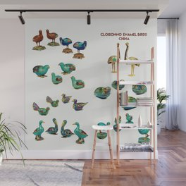 Cloisonne enamel animals China Poster, by Adam Asar 2 Wall Mural
