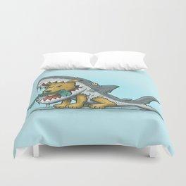 Shark Suit Dog Duvet Cover