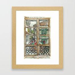 Window in Santiago Spain Framed Art Print